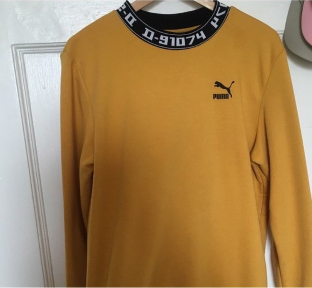 top puma yellow yellowtop vintage fashion