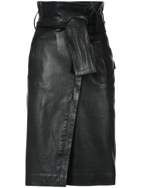 Marissa Webb skirt midi skirt women midi leather black