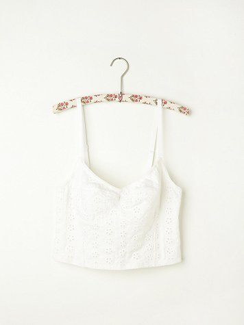 Intimately free people  stretch eyelet crop bra at free people clothing boutique