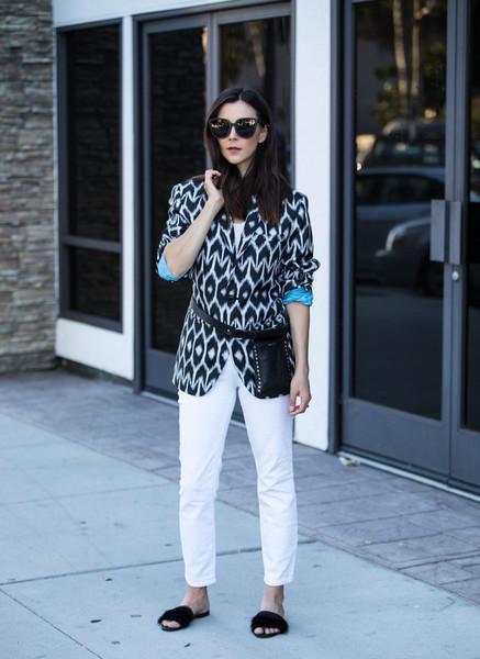 inspades blogger jacket t-shirt shoes belt bag sunglasses jeans slide shoes belt bag