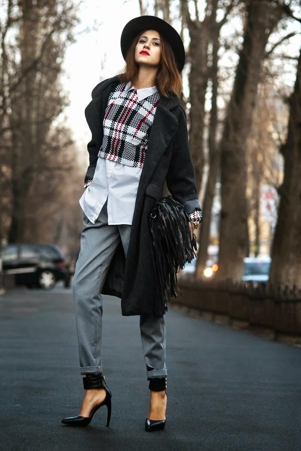 tina sizonova coat hat t-shirt shirt pants bag shoes jewels