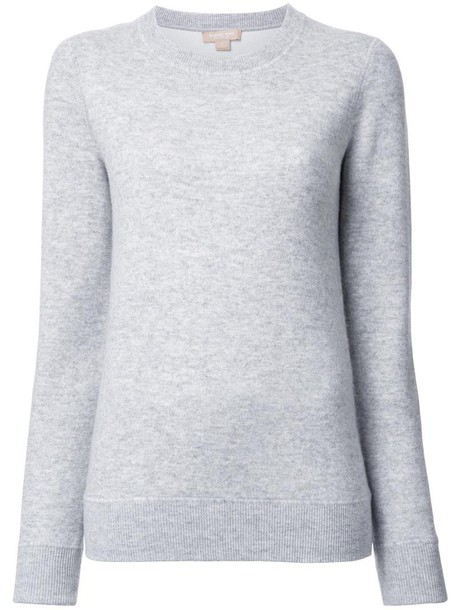 Michael Kors sweatshirt basic women spandex cotton grey sweater
