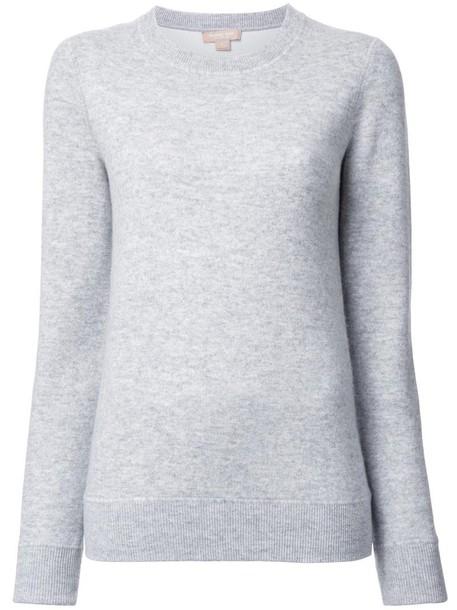 sweatshirt basic women spandex cotton grey sweater