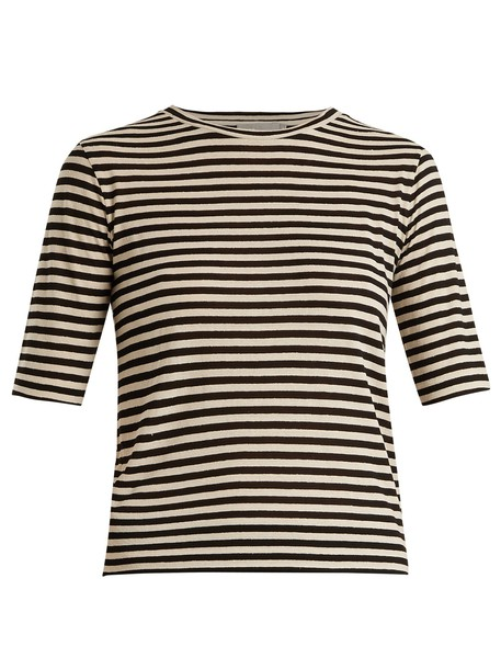 Vince t-shirt shirt cropped t-shirt t-shirt cropped silk black top