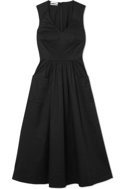 dress midi dress midi cotton black