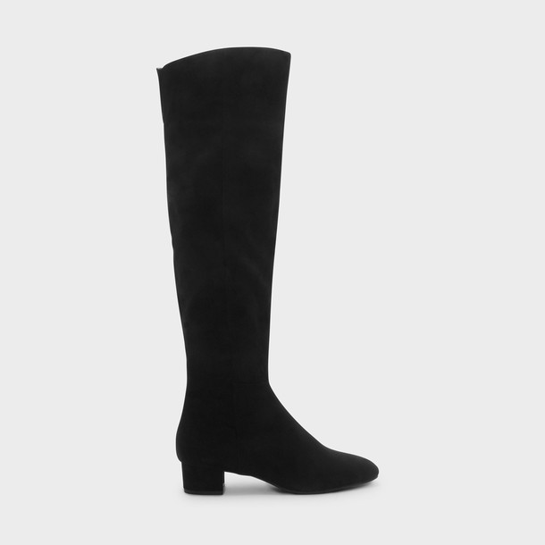 high thigh high boots black shoes