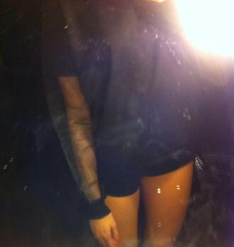 sweater transparent transparent sweater black sweatshirt transparent arm arm clear arm clear clear sweatshirt sweatshirt see trough sweater see trough black mesh