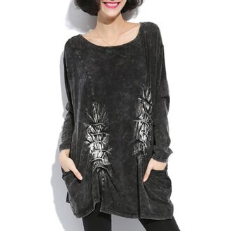 top black sweater dress sweater back to school graphic tee asian fashion streetstyle streetwear urban
