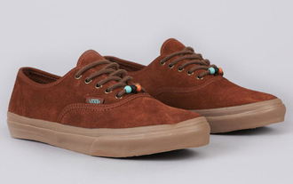 shoes vans beaded brown authentic