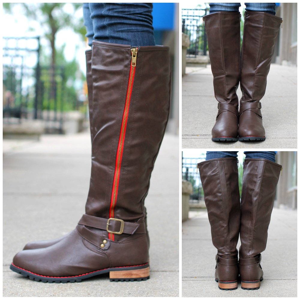 Riding Boot with Zipper Chapter-1 | uoionline.com: Women's Clothing Boutique