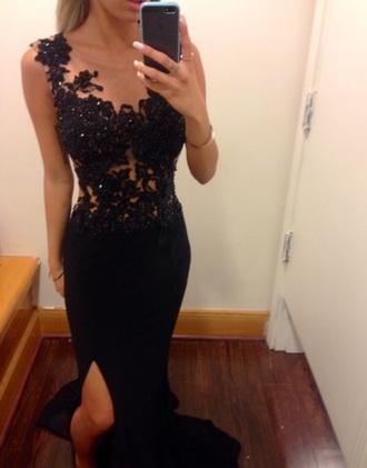 dress black lace black lace open back prom prom dress blouse