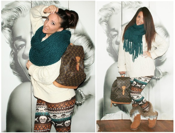 bag snow ugg boots winter sweater winter outfits skull leggings louis vuitton pants