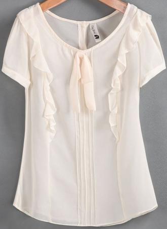 blouse chiffon short sleeve