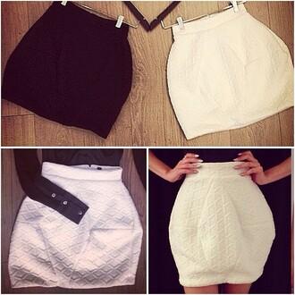 skirt shirt zhivago puff skirt mini skirt lined skirt stretch skirt high-fashion look white skirt classy stunning black skirt high waisted high waisted skirt bubble skirt diamond shape