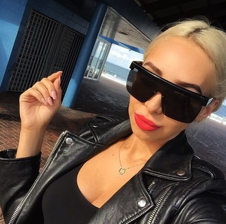 sunglasses black oversized unisex sunnies