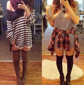 dress t shirt dress love tank/t shirt dress stripes striped dress black and white dress sweater