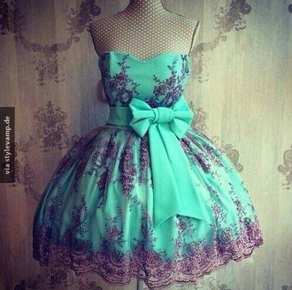 dress green black bow