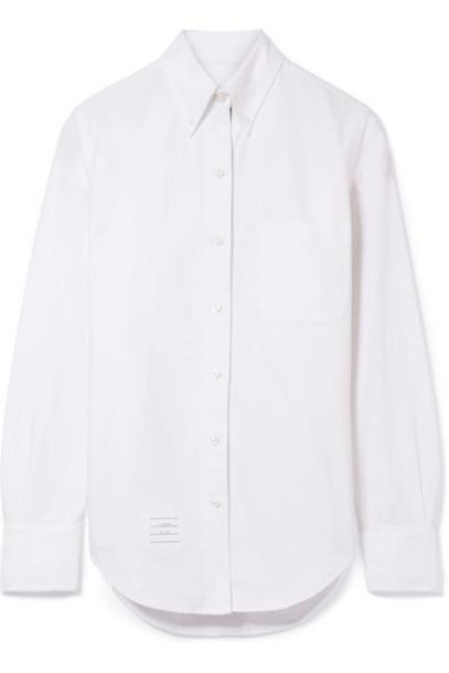 Thom Browne shirt light cotton blue light blue top