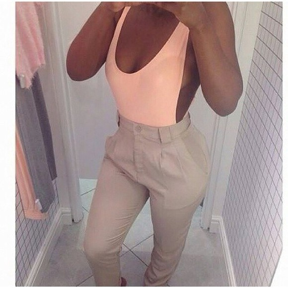 top bodysuit peach