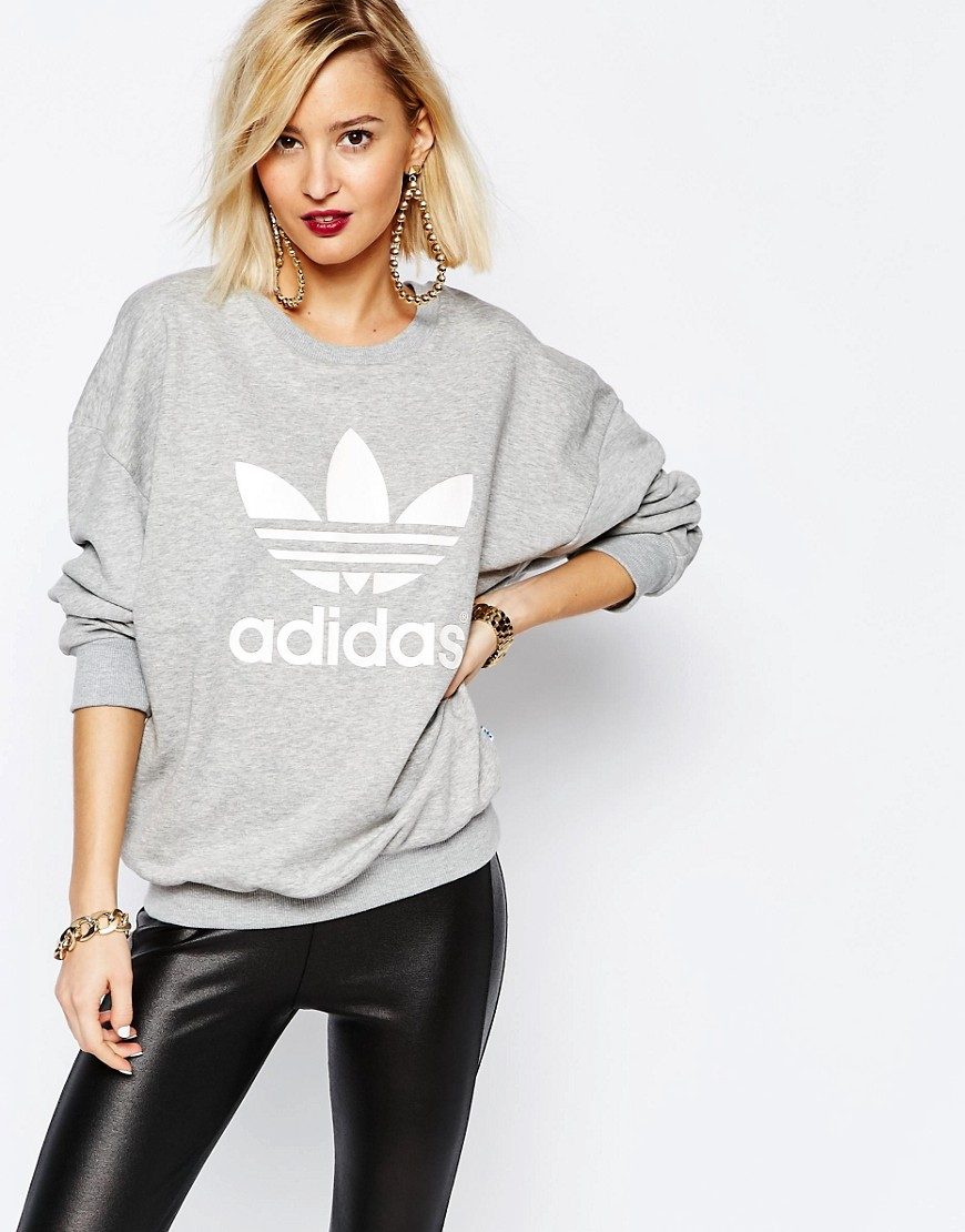 adidas originals adicolour oversized crew neck sweatshirt. Black Bedroom Furniture Sets. Home Design Ideas