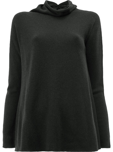 jumper women fit black sweater