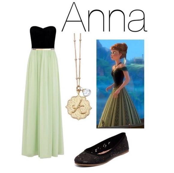 dress maxi dress anna anna dress disney disney clothes frozen @maxidress