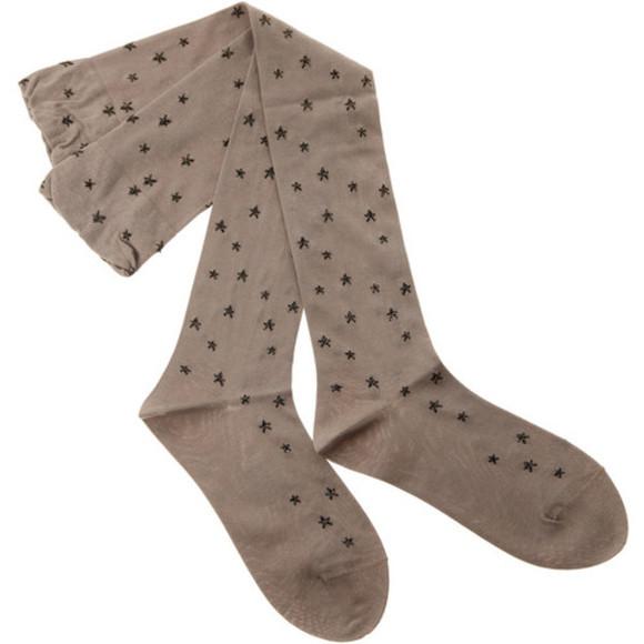 tights socks stars thigh highs stockings