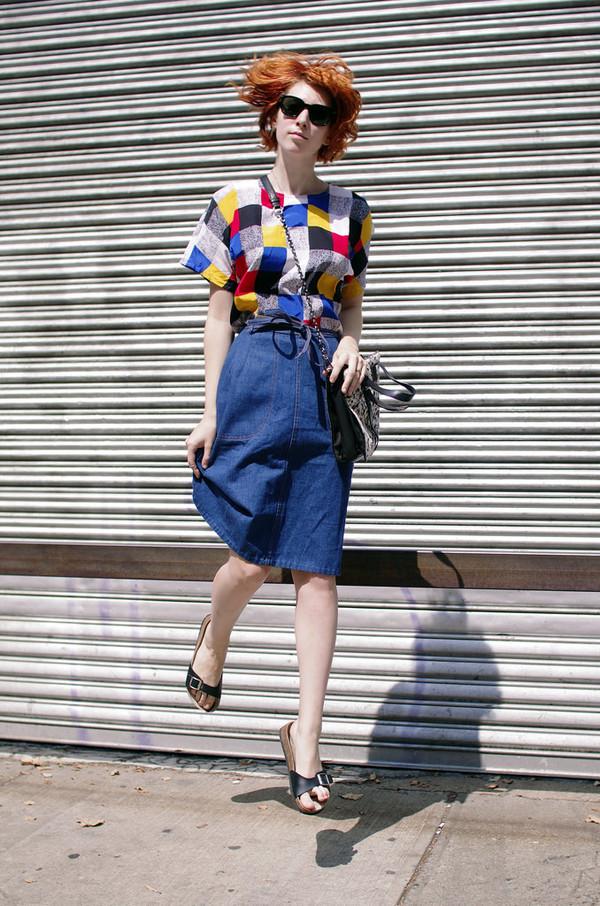 de lune blogger top shoes bag sunglasses
