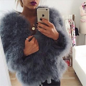 coat grey fur
