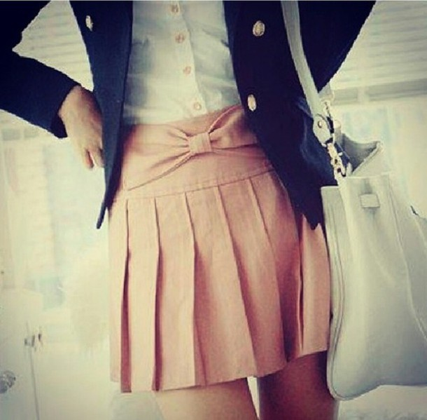 skirt nude pink loop