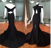 dress,willfredo gerardo,halter neck,prom dress,mermaid prom dress,open back prom dress,slit dress,bare shoulders,criss cross,cross over dress