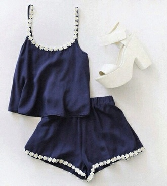 tank top outfit ensemble two piece sets daisy top shoes shorts dress