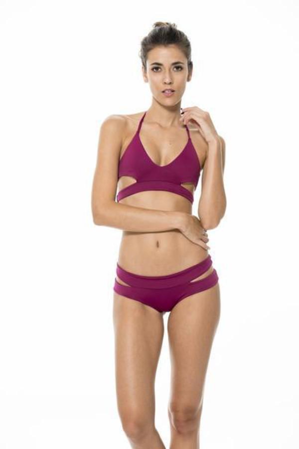 7182f38128 Zeraca Women s Wrap Halter Criss cross Bikini Bathing Suits at ...