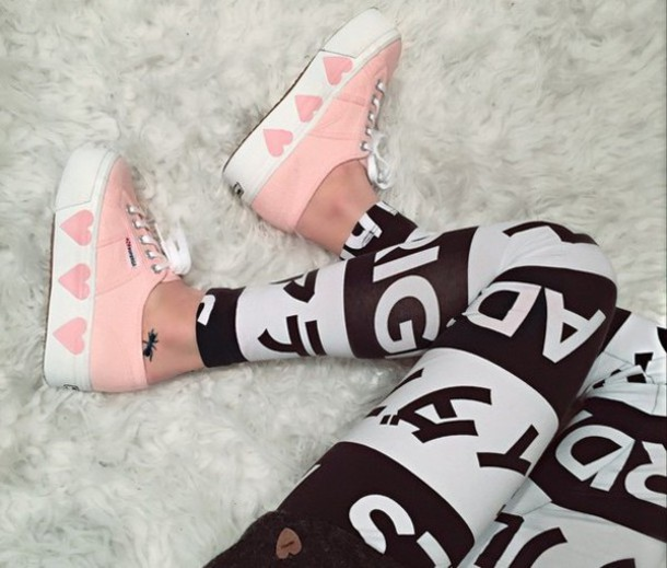 shoes pink heart cute