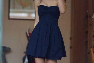 strapless navy dress mini dress