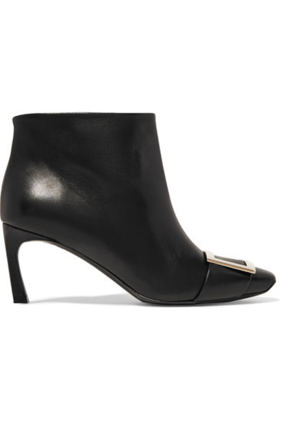 Roger Vivier leather ankle boots boots ankle boots leather black shoes