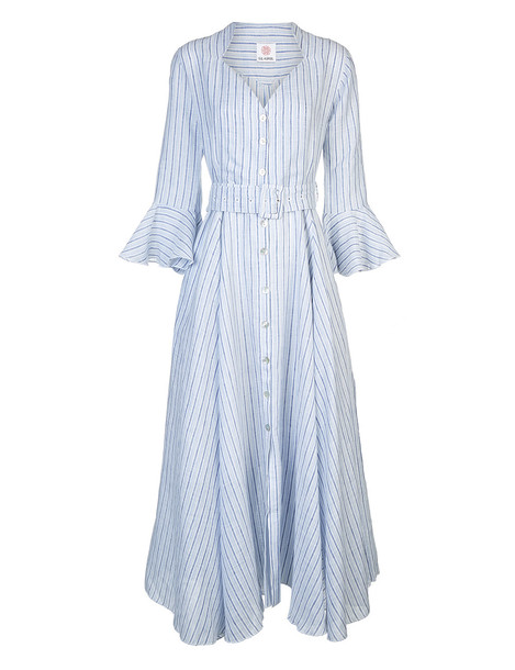 e1e8f3a4 Gul Hurgel Light Blue Linen Rita Dress - Wheretoget