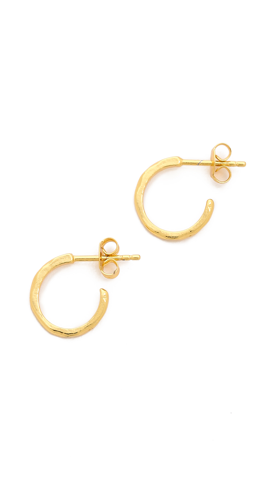 Gorjana taner bar mini hoop earrings