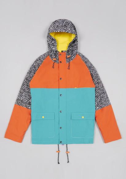 jacket print hooded jacket