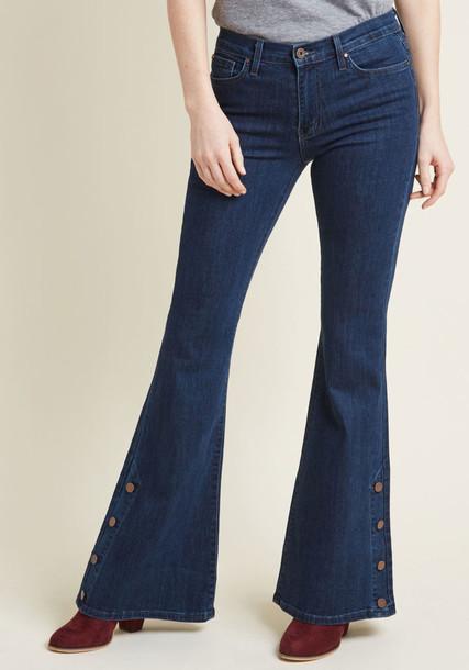 Asf229 jeans blue jeans denim high dark cotton blue copper