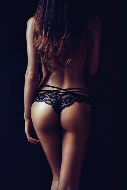 underwear black lace string straps tanga