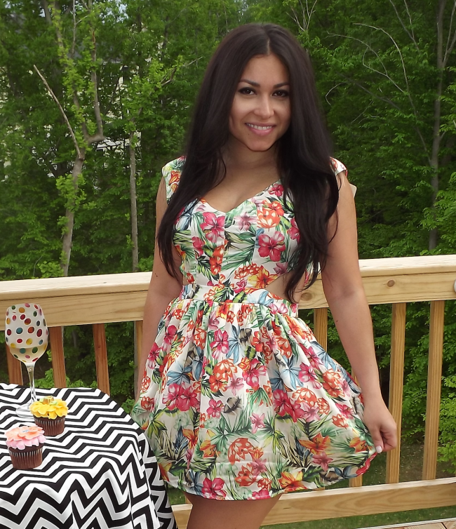 Fun flirty floral dress