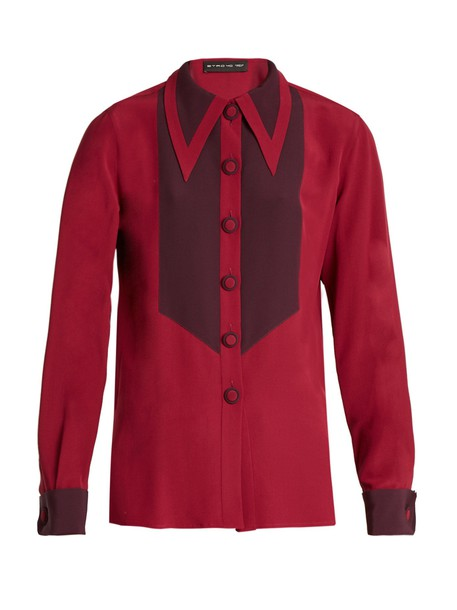 ETRO shirt silk burgundy top