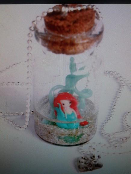 ariel jewels little mermaid mermaid bottle necklace necklace