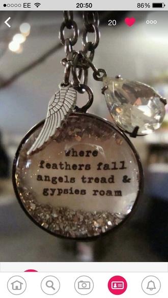 jewels boho bohemian ethnic jewellery ethnic necklace beautiful gypsy angels feathers