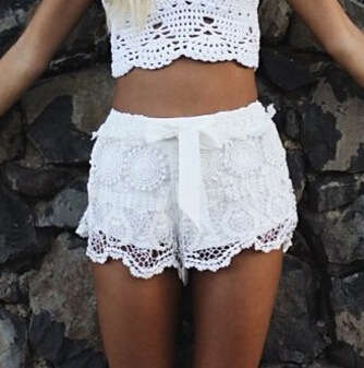 Hot Hot !!!! Free Shipping LOVEGIRL FASHION Milla Crochet Lace Shorts-inShorts from Apparel & Accessories on Aliexpress.com