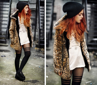 coat jacket leopard print faux fur