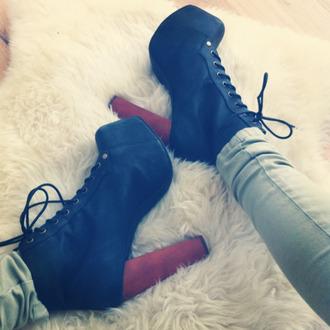 shoes tumblr black heels wooden heel