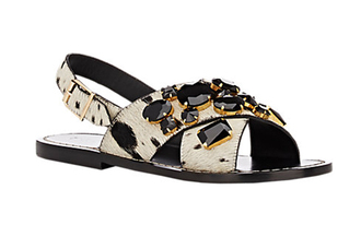 shoes bejewelled marni statement shoes animal print flat sandals