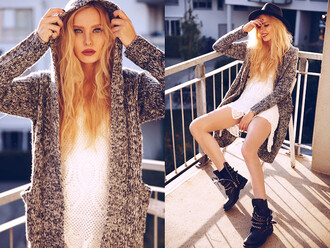 clothes hoodie cardigan i4out lookbook streetwear streetstyle knitted cardigan